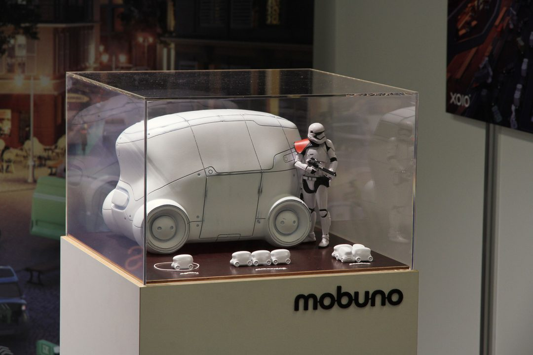 The final exhibition model of the Mobuno 2.0